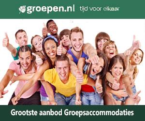 grootste aanbod groepsaccommodaties banner